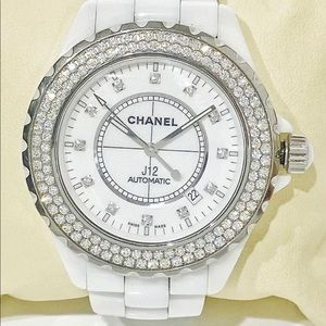Authentic Chanel J12 /Diamond Bezel